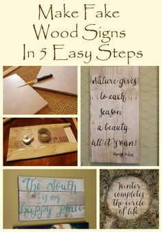 Fake Wood Signs In 5 Easy Steps