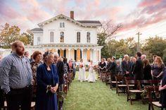 Autumn Colored Wedding in North Carolina- same sex wedding - ceremony style and details- estate venue