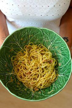 Esparguete com Atum e Pesto de Abacate