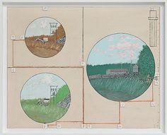 Leonard Rickhard <em>Tre landskaper</em><br />Olje på tre, 66 x 81 cm
