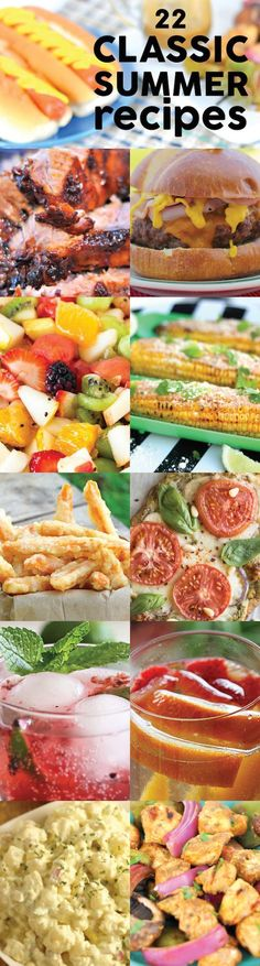 Classic Summer Recipes. 'Tis the season for grillin' and chillin' #summer #recipes