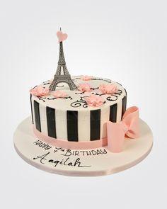 Paris Birthday Cakes, Paris Birthday Parties, Adult Birthday Cakes, Paris Party, Birthday Treats, Cupcake Recipes, Cupcake Cakes, Bolo Paris, Eiffel Tower Cake