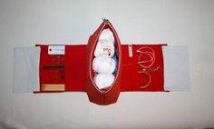 Utensilos & Stoffkörbchen - *Stricknadeltasche to go Handarbeitstasche * - ein Designerstück von Kaepseles bei DaWanda
