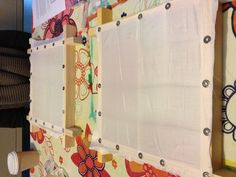Silk (painting) board with stretch and mapped squared backing