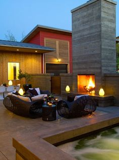 Outdoor fireplace   # Pinterest++ for iPad #