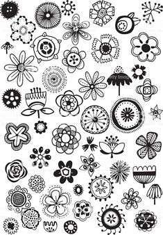 Vector doodle flowers – hand drawn floral elements, quirky and fun. Doodle Flowers royalty-free doodle flowers stock vector art & more images of 2015 Free Doodles, Easy Doodles Drawings, Simple Doodles, Art Drawings, Drawing Hands, Doodle Art Drawing, Plant Drawing, Doodle Doodle, Drawing Ideas