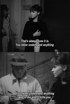 """Jean-Luc Godard, Alphaville, 1965' French Films, """"Never Understand"""""""