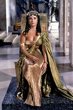 Elizabeth Taylor in Cleopatra by Renie Conley