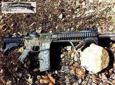 CamoConcepts painted this LWRC M6 A-2 last week... #camo #camoconcepts #camopaint #rifle #LWRC