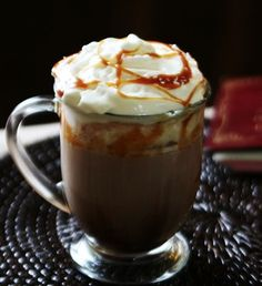 Salted Caramel Hot Chocolate #hotcocoa #cocoa #chocolate #caramel #recipe