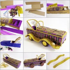 DIY Vintage Chocolate Car