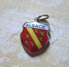 Vintage Alsace Enameled Travel Shield CharmImporte by MiladyLinden