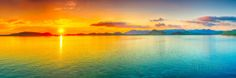 Sunrise Over The Sea. Panorama Posters by GoodOlga at AllPosters.com