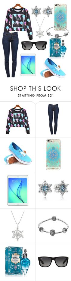 """Feeling Good"" by kiannadenay ❤ liked on Polyvore featuring Frame Denim, Vans, Casetify, Samsung, Pandora and Ray-Ban"