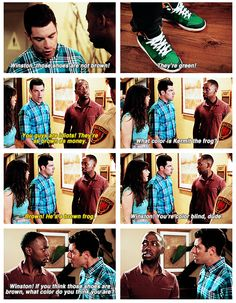 """Winston - """"Hell no! These are my favorite brown shoes!"""""""