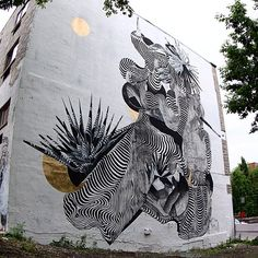 Work by never2501 at @muralfestival • Montreal, Canada