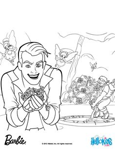 Crider And Rupert Uproot The Diamond Gardenia Barbie Coloring Page More Princess