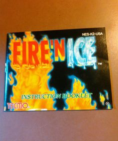 Fire N Ice NES Manual Only Instruction Booklet Nintendo High Quality Near Mint