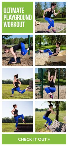VIDEO: Get outside and blast calories with this full body playground workout!