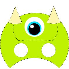 Máscara para niños de monstruos maik Pre School, Pikachu, Halloween, Party, Kids, Fictional Characters, Crafts, Mardi Gras, Molde