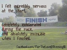 Somebody posted this about running, but this is how I feel whenever I engage in another writing project.