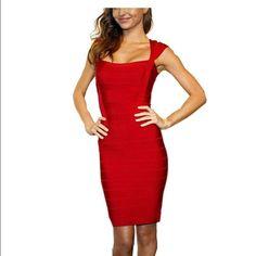 Red Vavavoom Herve Like Dress