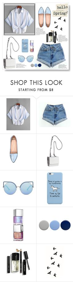 """""""Blue Spring"""" by georgia-sotiriadi ❤ liked on Polyvore featuring Mollini, Kendall + Kylie, Matthew Williamson, Burberry, Bobbi Brown Cosmetics and Spring"""