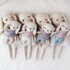 Handmade Mother & Baby Rabbit Dolls | lespetitesmainss on Etsy