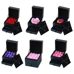 Simulation Rose Soap Flower With Box Wedding Souvenir Valentines Day Gift Birthday Beautiful Gift For Mother  Product Name : Soap Flower Material : Plastic Box And Soap Quantity :1BOX Box Shape :square Box Size :see pictures Color : As Picture Used For : Romantic Bath And G...