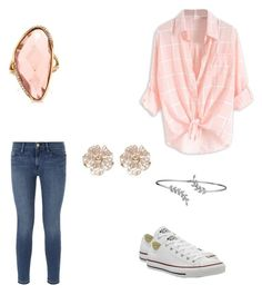 """""""Start of summer"""" by destinyl734 ❤ liked on Polyvore featuring Frame Denim, Mark Broumand, Converse, Bling Jewelry and River Island"""