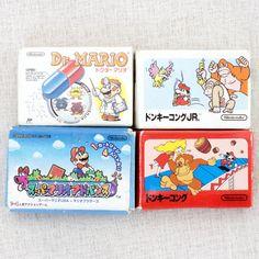 Dr. Mario Donkey Kong Cassette Mini Eraser 4pc Set Nintendo JAPAN FAMICOM NES
