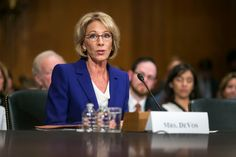 The Senate confirmed Betsy DeVos on Tuesday as education secretary, approving the embattled nominee only with the help of a historic tiebreaking vote from Vice President Mike Pence.