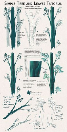 Tree and Leaves Tutorial + Tips by *Qinni on deviantART