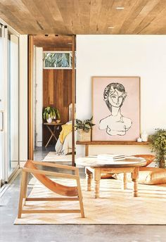Shelley Craft's Byron Bay home has a clever garden studio Shelley Craft, Barn Style Doors, Interior Barn Doors, Byron Bay, Boho, Interior Inspiration, Living Room Designs, House Styles, Sliding Doors