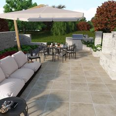 Sandset porcelain patio stones, easy to install for a stylish outdoor patio and living area.