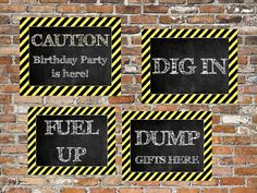 INSTANT Construction Signs Party Door Wall by TwoLaughingLambs, $3.00