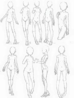 Pin by Ai on Refrence this Drawing base Anime poses reference Body reference drawing