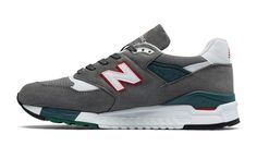 998 New Balance, Grey with Red