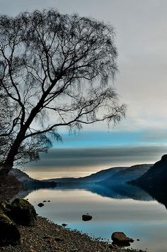 Just before sunrise - Ullswater Lake, Lake District National Park, Cumbria, England (by midlander1231 on Flickr)