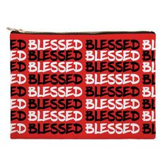c4c436618025 Blessed Inspirational Canvas Clutch Bag