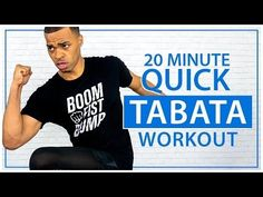 20 Minute Quick Tabata HIIT Total Body No Equipment Cardio Workout - At Home Fat Burning Exercises - YouTube