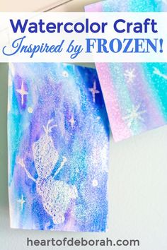 We LOVE Frozen and with Olaf's Frozen Adventure coming out we wanted to create a magical Frozen craft. Here is a fun white crayon watercolor craft for kids! We used the white crayon resist technique and watercolor paint to create this fun kid's activity. Disney Frozen Crafts, Disney Crafts For Kids, Winter Crafts For Kids, Disney Diy, Toddler Crafts, Preschool Crafts, Fun Crafts, Beach Crafts, Frozen Kids