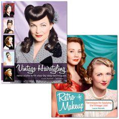 2 ouvrages pour réussir toutes vos coiffures rétro et vinage, maquillage pin up, etc