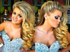 Big Curls - Prom hair and Makeup by Little Katie and Nic x
