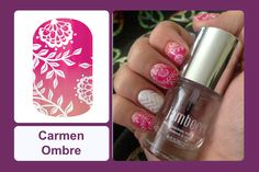 Lace and flowers look perfect against a sunset ombré background on this wrap. #bevsjamminnails https://bkimball.jamberry.com/us/en/shop/products/carmen-ombre#.VtpJtvkrJD8