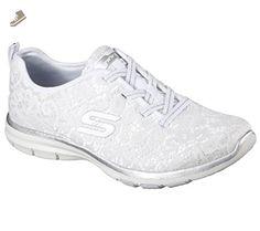 Skechers Sport Women's Galaxies Serene Vibes Fashion Sneaker,White/Silver,7.5 - Skechers sneakers for women (*Amazon Partner-Link)