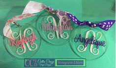 Personalized Monogrammed Acrylic Key-chain  Will come with matching ribbon…