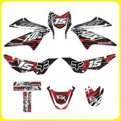 Tuning Motos Honda Xr 150, Monster, Rockstar, Fox Stickers Hover Bike, Motos Honda, Fox Racing, Dirtbikes, Car Wrap, Motocross, Art Prints, Drawings, Anime