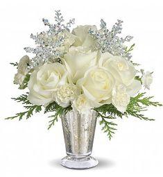 PostHoliday Gorgeous Winter Flower Arrangement Prezenty