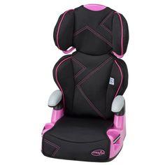 Evenflo AMP? Belt-Positioning High Back Booster Car Seat, Pink Angles, Multicolor